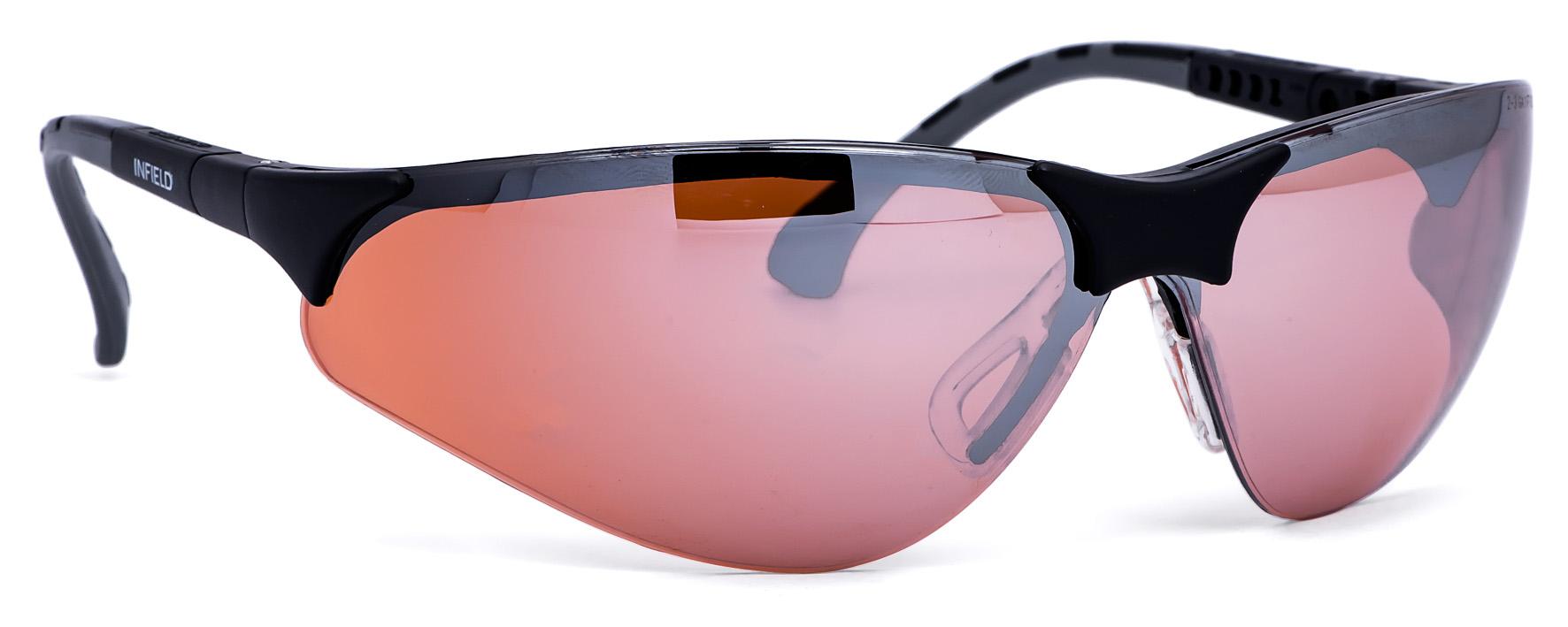 Infield Terminator Uv-400 Schutzbrille Orange Uv Und Blaulicht Schutz Glasses Sicherheit & Gebäudeinstandhaltung Kleidung & Accessoires